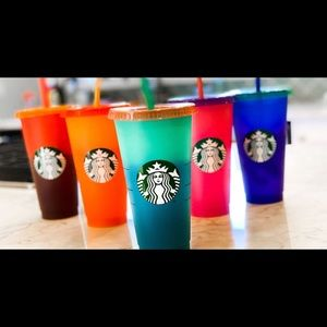 Starbucks Color Changing Cold Cup Set 2020🌈